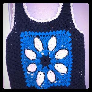 TORY BURCH Cashmere Crochet Top M!